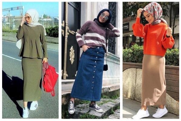 7 Tips Padu Padan Hijab Dan Rok Span Untuk Style Kasual Ke Kampus Womantalk
