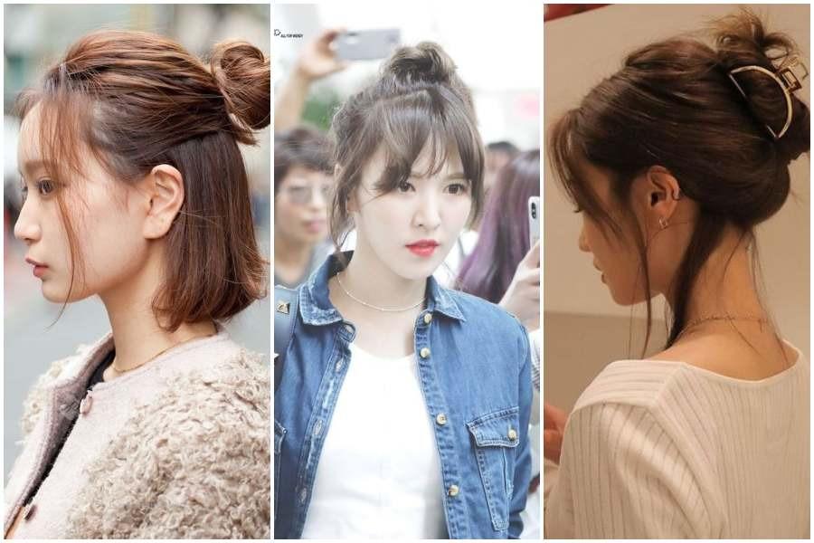8 Gaya Rambut Cepol Ala Perempuan Korea Yang Simpel Womantalk