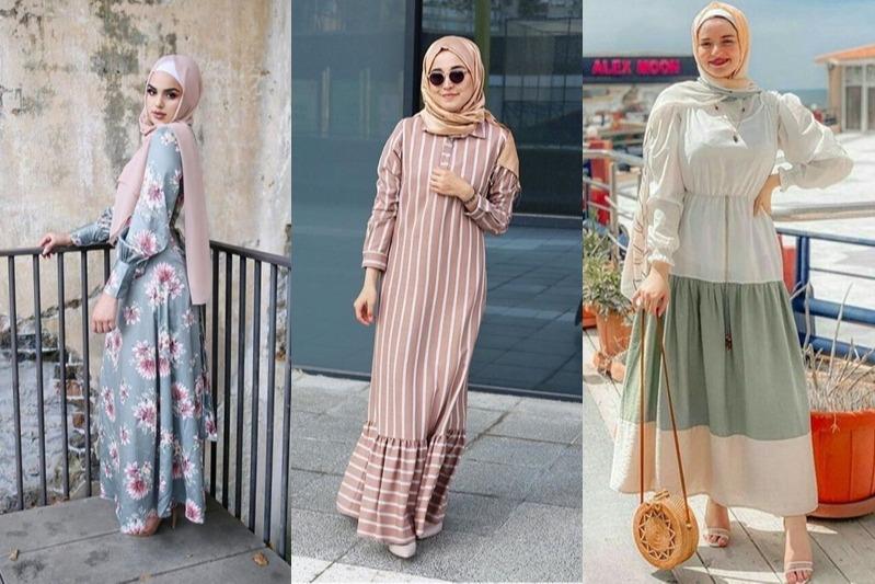 7 Model Gamis Untuk Hijaber Usia 30 An Biar Awet Muda Womantalk