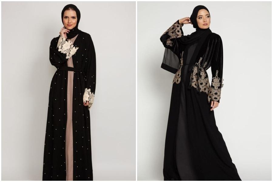 8 Model Abaya Hitam Yang Stylish Untuk Lebaran Womantalk