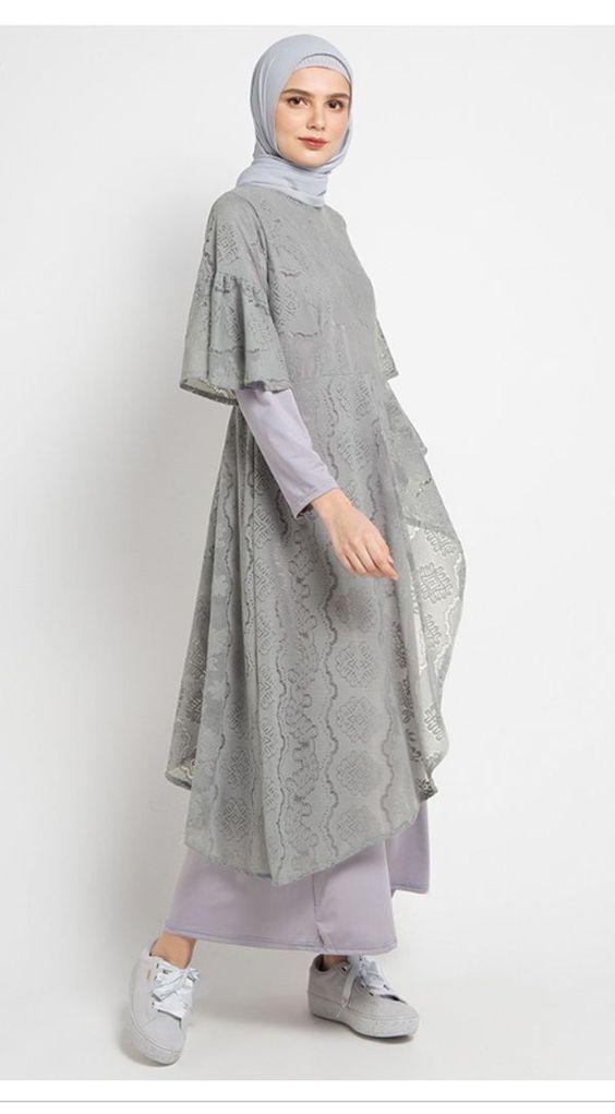 10 Model Baju Pesta Brokat Untuk Hijaber Ke Kondangan Womantalk