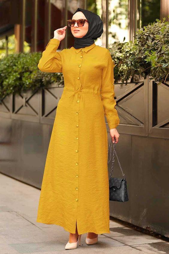 7 Warna Hijab Yang Cocok Untuk Baju Kuning Mustard Womantalk