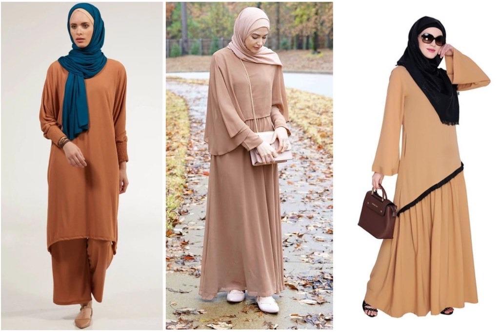 Baju Gamis Warna Coklat Cocok Dengan Jilbab Warna Apa
