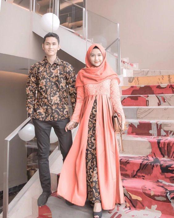 7 Dress Batik Kombinasi Brokat Buat Kondangan Womantalk